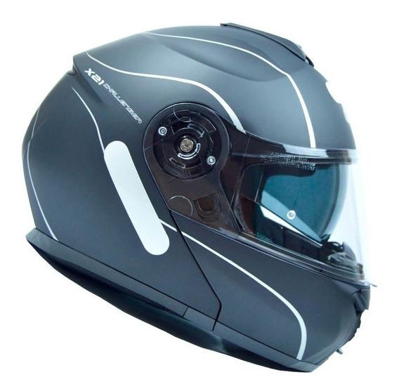 Capacete Givi X21 Graphic Preto/prata Fosco S2r