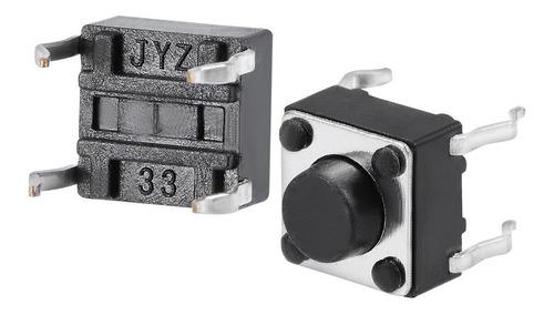 Imagen 1 de 2 de Lote De 6 Pulsador Switch Nabierto 6x6x5mm Arduino -pdiy-