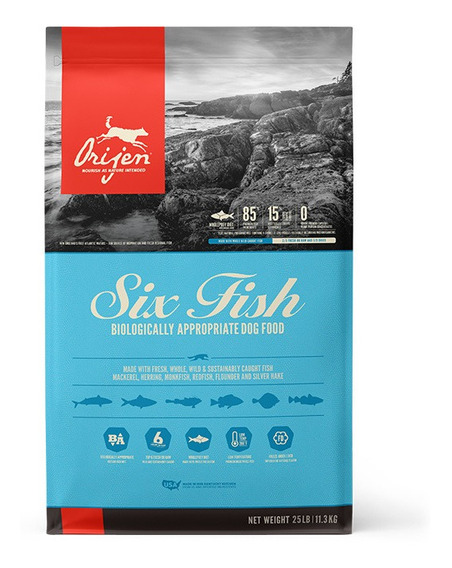 Alimento Para Perro Orijen Six Fish 11.3kg
