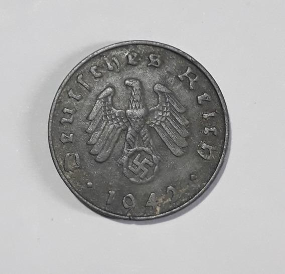Moneda Alemana De 1942, 10 Reichspfennig, F