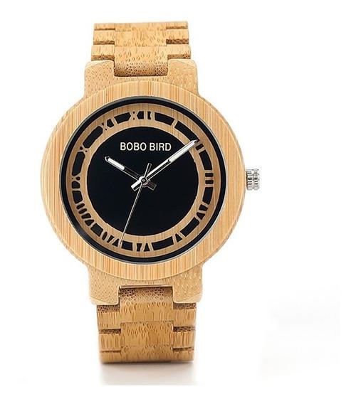 Relógio Unissex Bobo Bird N19 Madeira Analógico