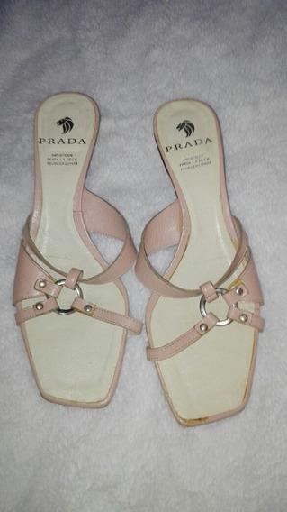 Zapatos Abierto Prada Mujer 24 100% Origuinales