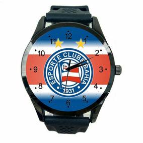 Relógio Bahia Masculino Barato Futebol Esporte Time Fc T465
