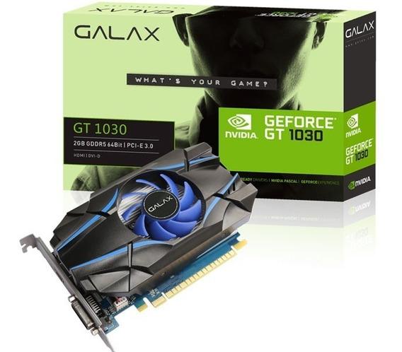 Placa De Vídeo Gt 1030 2gb Ddr5 64bits Galax Geforce