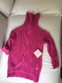 Cardigan Agasalho Pulover Infantil Feminino Pink Tamanho Xs