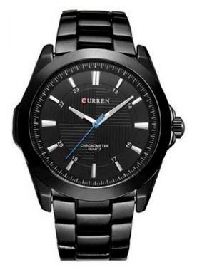 Relógio Masculino Curren 8109 Preto Frete Grátis