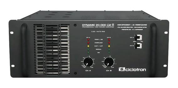 Amplificador Estéreo 2 Canais 5000w Dynamic 20000 Ciclotron