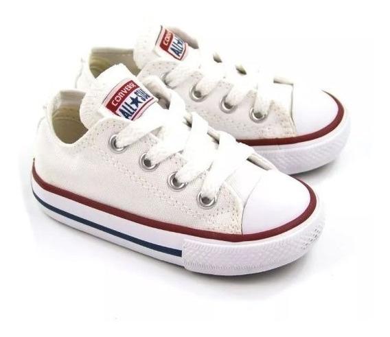 Tênis Converse All Star Kids Branco Ck00010001