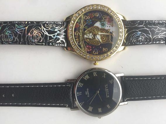 Kit Com Dois Relógio. Yazole E Coruja Com Pedrinhas