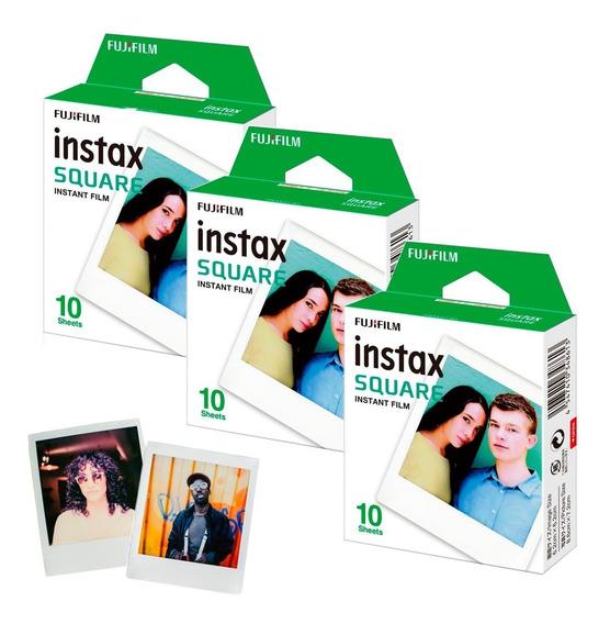 3 Rollos Fujifilm Instax Square Tipo Polaroid Instantanea