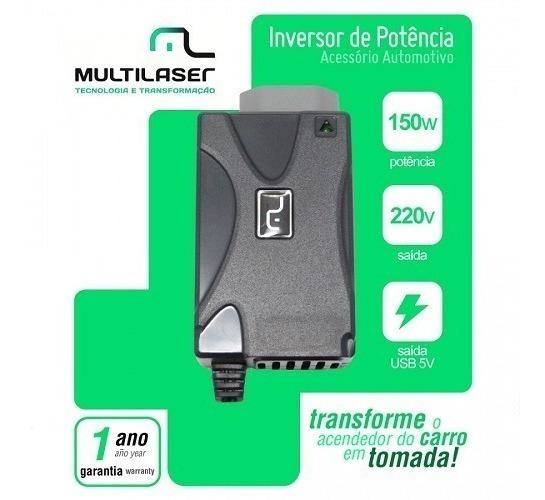 Inversor Potência Veicular Tomada Para Carro 150w -110v 220v