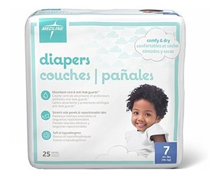 Medline Mbd2007 Baby Diapers, Size 7, 41+ Lbs. (paquete De 2