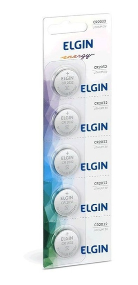 Bateria Elgin Lithium Cr2032 5 Un. 82193 16025