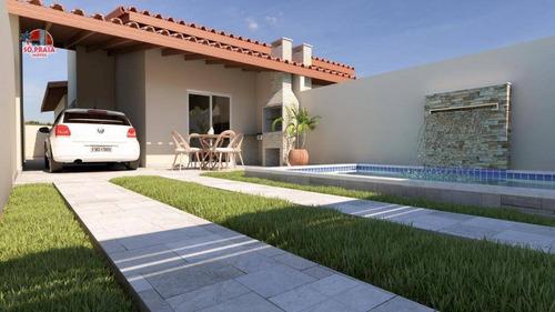 Imagem 1 de 3 de Casa Com Piscina, Lado Praia, À Venda, 77 M² Por R$ 299.000 - Jardim Suarão - Itanhaém/sp - Ca5330