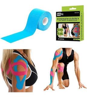 Fita Kinesio Tape Bandagem Funcional Elástica Adesiva Sports