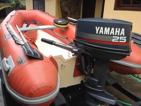 Motor De Popa Yamaha 25 Hp Mais Bote Inflável Com Duplo Fund