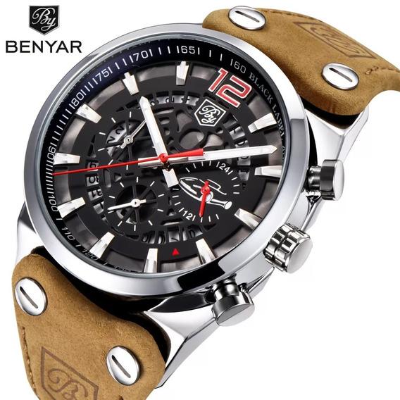 Relogio Benyar 5112 Cronografo Funcional Original 3 Bar