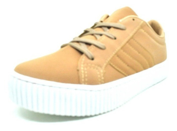 Sapatos Femininos Tenis Casual Nobuck Sola Branca Dani K