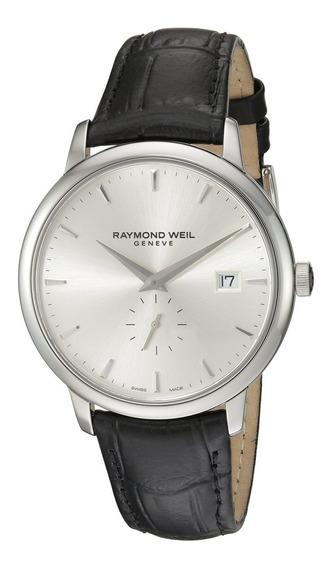 Reloj Analógico De Cuarzo Negro 5484-stc-65001 De Raymond