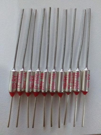Fusível Térmico Ry Tf 10a 250v Temperatura 250c - 10 Peças