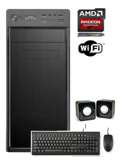 Desktop Cpu Amd X2 4gb 500gb 2gb Placa De Vídeo Hdmi Wifi