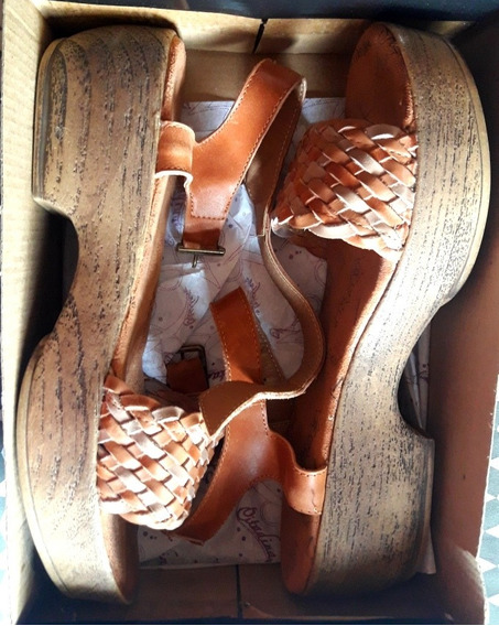 Sandalias De Cuero Bajas