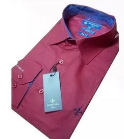 Camisa Social Dudalina Masculina Slim Fit Algodão Egípci