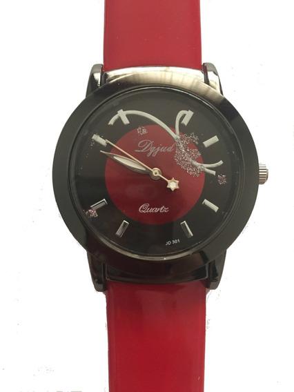 Relógio Feminino Importado Luxo Barato Pulseira Couro
