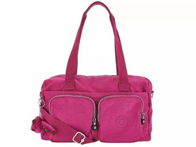 Bolsa Kipling Cyrene Cor Flamingo Pink 100% Original