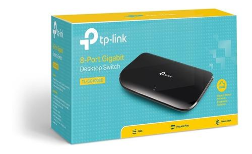 Imagem 1 de 6 de Hub / Switch De Mesa Tl-sg1008d 8 Portas Gigabit - Tp Link