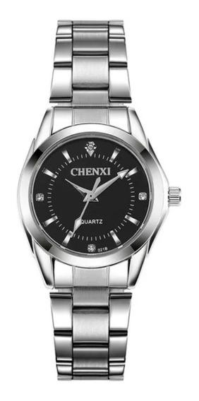 Relógio Feminino Prata Aço Inox Pequeno