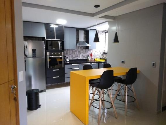 Apartamento Cobertura Sem Condomínio Com 104 M² Sendo 2 Dormitórios, 1 Suite, 2 Vagas À Venda Por R$ 415.000 - Vila Guiomar - Santo André/sp - Co0842