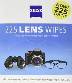 225 Lenços Zeiss Umedecidos Limpeza De Lentes Óculos S/juros