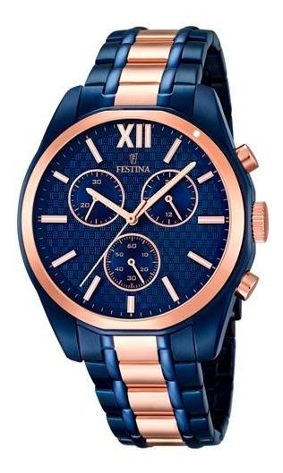 Relógio Festina De Luxo Novo Com Caixa Luxuosa