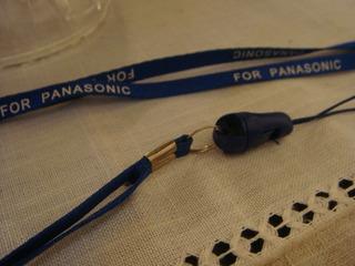 Pingente Suporte Celular Azul Panasonic