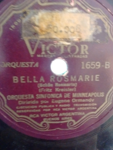 Orquesta Sinfonica Minneapolis Disco Pasta 1659 C23