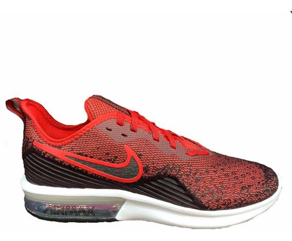 Tenis Nike Air Max Sequent 4 Rojo Ao4485-006 Look Trendy