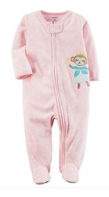 Pijama Macacão Fleece Soft Carters Menina 3 - 24 Meses