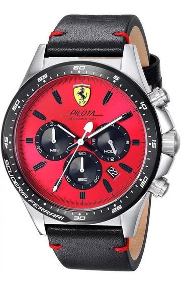 Relógio Ferrari Scuderia Pilota 0830387 Novo Nota Fiscal