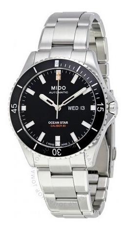 Relógio Automático Mido Ocean Star Preto/aço Suíço Diver Ori