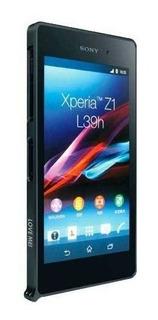 Sony Xperia Z1 Funda Bumper Love Mei Negro Aluminio