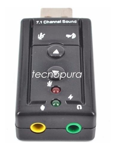 Tarjeta Sonido 7.1 Canales Usb Plug & Play + Control Volumen