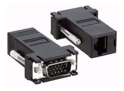 Conector Adaptador Vga Macho X Rj45 Cabo De Rede Centro Rio