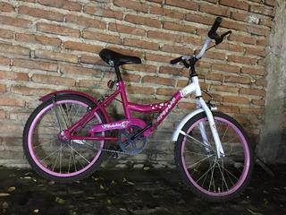 Bibicleta Rosa Con Contra Pedal