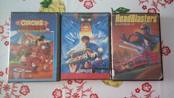 Mickey Circus + Road Blasters + Street Fighter 2 Plus C.ed
