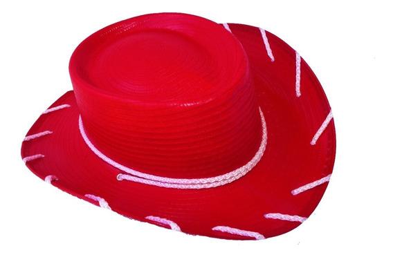 Sombrero Jessy 4 Pza Rojo Toy Story Niño Adulto Mayoreo