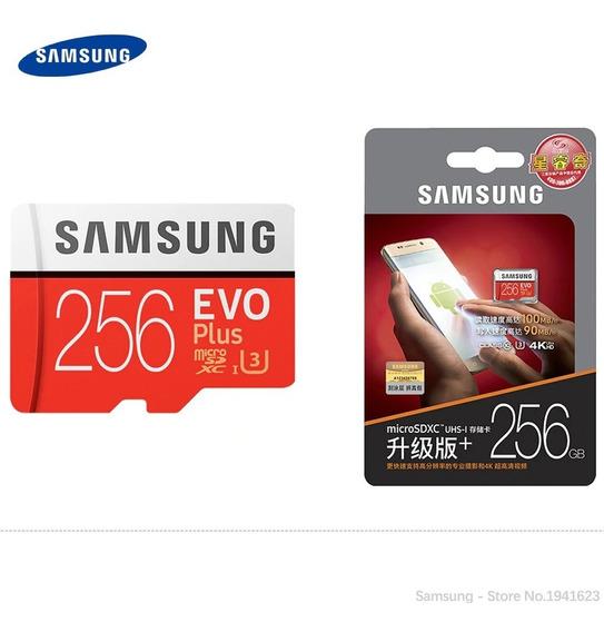 Cartão Samsung Micro Sdxc Evo Plus 256gb 100mbs Classe 10