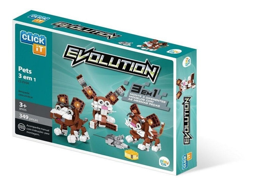 Bloco De Montar Click It Cis Pets 3 Em 1 Evolution