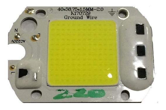 10 Chips Led 50w 6000k Inteligente Não Usa Fonte/reator 220v