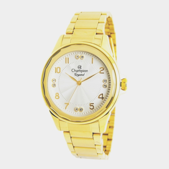 Relógio Feminino Champion Analógico Cn25609h - Dourado